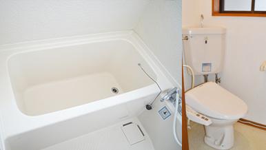 【風呂・トイレ別】お風呂とトイレが独立しているのでリラックス